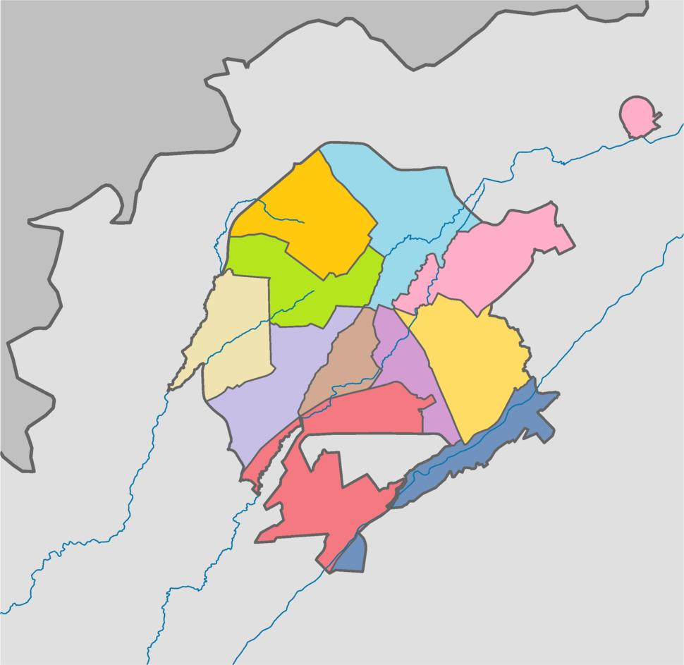 Tashkent city districts (2018) coloured