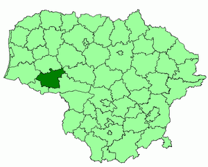 Tauragė District Municipality - Image: Taurage district location