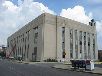 Terre Haute Post Office and Federal Building - Front and western side of the building