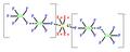 Tetraxenonogold bis(undekafluorodiantimonate) - tetragonal.png