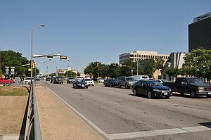 Texas State Highway Loop 12 - Image: Texas State Highway Loop 12 Northwest Highway at Dallas North Tollway toward Hathaway St 4526 jpfagerback 2013 05 07