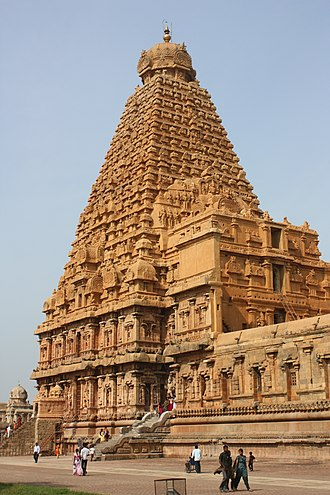 Great Living Chola Temples - View of the Sri-vimana of the Brihadeeswarar Temple.
