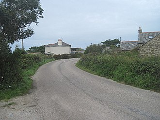 B3306 road - The B3306 at Boswednack