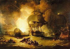French ship Orient (1791) - Image: The Battle of the Nile