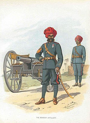 26th Jacob's Mountain Battery - Image: The Bombay Artillery 1890