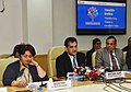"The CEO, NITI Aayog, Shri Amitabh Kant with the Secretary, Ministry of Health & Family Welfare, Smt. Preeti Sudan addressing the press conference after releasing the ""Healthy States, Progressive India"" Report, in New Delhi.jpg"