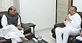 The Chief Minister of Chhattisgarh, Dr. Raman Singh calling on the Union Home Minister, Shri Rajnath Singh, in New Delhi on November 07, 2015.jpg
