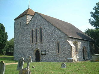 Clapham, West Sussex - Church of St Mary the Virgin, Clapham, believed to have been built in the 12th century.