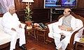 The Governor of Karnataka, Shri Vajubhai Rudabhai Vala calling on the Union Home Minister, Shri Rajnath Singh, in New Delhi on September 04, 2014.jpg