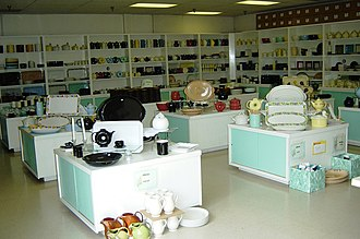 The Hall China Company - The retailing floor at 'The Hall Closet', the company's factory outlet store.