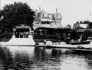 The Karsino hotel and entertainment centre on Taggs Island, Richmond, London