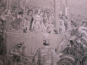 Georgiana Seymour, Duchess of Somerset - Duchess Georgiana at the Eglinton Tournament