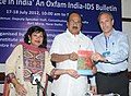 The Minister of State (Independent Charge) for Consumer Affairs, Food and Public Distribution, Professor K.V. Thomas launching the Bulletin on Food Justice in India, in New Delhi on July 18, 2012.jpg