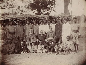 The Gambia - The British Governor, George Chardin Denton (1901–1911), and his party, 1905