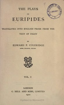 The Plays of Euripides Vol. 1- Edward P. Coleridge (1910).djvu