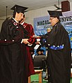 The President, Shri Pranab Mukherjee conferred the Honoris Causa of Degree on Dr. S.C. Jamir (Governor of Odisha), at the Third Convocation of Nagaland University, at Lumami, Nagaland on May 15, 2013.jpg