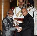 The President, Shri Pranab Mukherjee presenting the Padma Shri Award to Prof. Biman Bihari Das, at a Civil Investiture Ceremony, at Rashtrapati Bhavan, in New Delhi on March 31, 2014.jpg