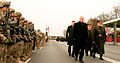 The President of Latvia Reviews the troops. (15206686174).jpg