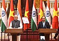 The Prime Minister, Shri Narendra Modi and the Prime Minister of the Socialist Republic of Vietnam, Mr. Nguyen Xuan Phuc at the joint media briefing, in Hanoi, Vietnam on September 03, 2016 (4).jpg