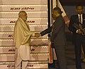 The Prime Minister, Shri Narendra Modi arrives at New Delhi, after attending WEF Summit, in Davos, Switzerland on January 24, 2018 (1).jpg