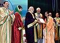 The Prime Minister, Shri Narendra Modi distributes the awards to students, at the 5th Convocation of Shri Mata Vaishno Devi University, at Katra, in Jammu and Kashmir.jpg