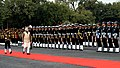 The Prime Minister, Shri Narendra Modi inspecting the Tri-services 'Guard of Honour', at the War Memorial in Indian Military Academy, Dehradun, ahead of the Combined Commanders Conference, on January 21, 2017.jpg