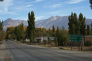 Uspallata - The road out of Uspallata
