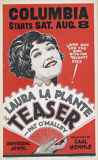 The Teaser - 1925 window card