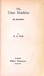 <i>The Time Machine</i> science fiction novel by H. G. Wells