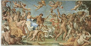 The Loves of the Gods - The Triumph of Bacchus and Ariadne - Annibale Carracci - 1597 - Farnese Gallery.