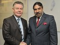 The Union Minister for Commerce and Industry, Shri Anand Sharma with the EU Trade Commissioner, Mr. Karel De Gucht, in Brussels on November 29, 2010.jpg