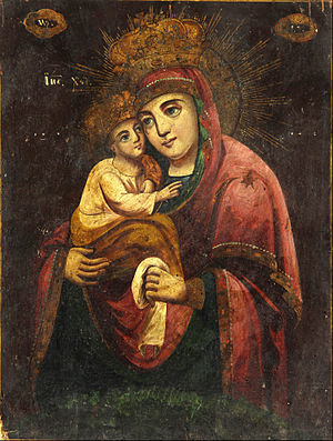 Pochayiv Lavra - The Virgin of Pochaiv, 1840. Ivan Honchar Museum.