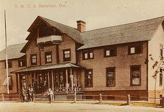 Schreiber, Ontario - The YMCA in Schreiber, Ontario, circa 1910.
