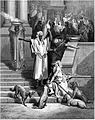 The beggar Lazarus begs at the gate of the rich man.jpg