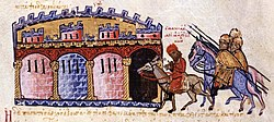 The captive Maniakes is brought to Constantinople.jpg