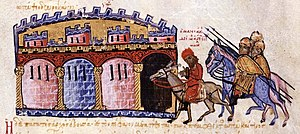 George Maniakes - Maniakes is brought to Constantinople seated on a donkey