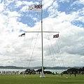 The flag post by the treaty house - Waitangi (square).jpg