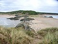 The isthmus, viewed from Llanddwyn Island. - geograph.org.uk - 226174.jpg