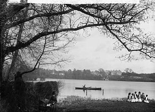 The lake, Ellesmere (Salop)