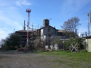 Monte Cavo - The same structure used as a telecommunications station at the end of the 20th century.