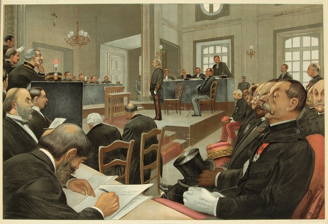 The trial of Dreyfus, Vanity Fair, 1899-11-23