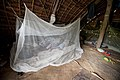 The use of long lasting insecticide treated nets each night is one of the most effective ways to prevent malaria, Vanuatu, 2012. Photo- DFAT (12779509264).jpg