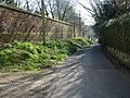 The wall to the gardens of Northbourne Court - geograph.org.uk - 696466.jpg