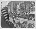 Theodore Roosevelt's presidential visit showing parade viewed from a nearby building, Seattle, May 23, 1903 (WARNER 220).jpeg