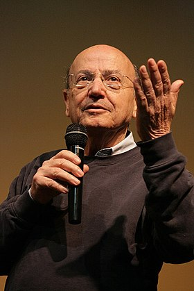 Theodoros Angelopoulos, winner of the Palme d'Or in 1998, notable director in the history of the European cinema Theodoros Angelopoulos Athens 26-4-2009-2.jpg