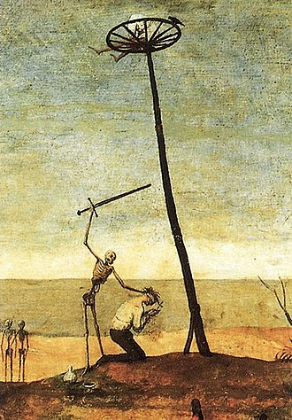 Executioner - Depiction of a public execution in Brueghel's The Triumph of Death 1562-1563