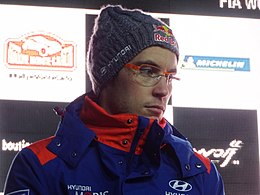 Thierry Neuville on Friday evening, Rallye Monte-Carlo 2019.jpg