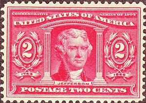 Territories of the United States on stamps - Thomas Jefferson 1904 issue