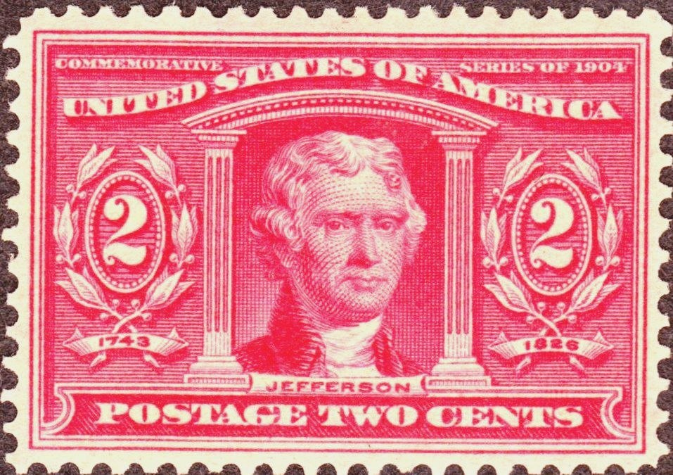 Thomas Jefferson 1904 Issue-4c