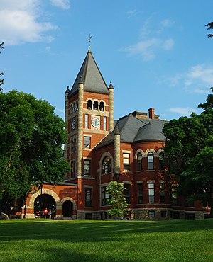 Thompson Hall (University of New Hampshire) - Image: Thompson Hall, UNH Sunset